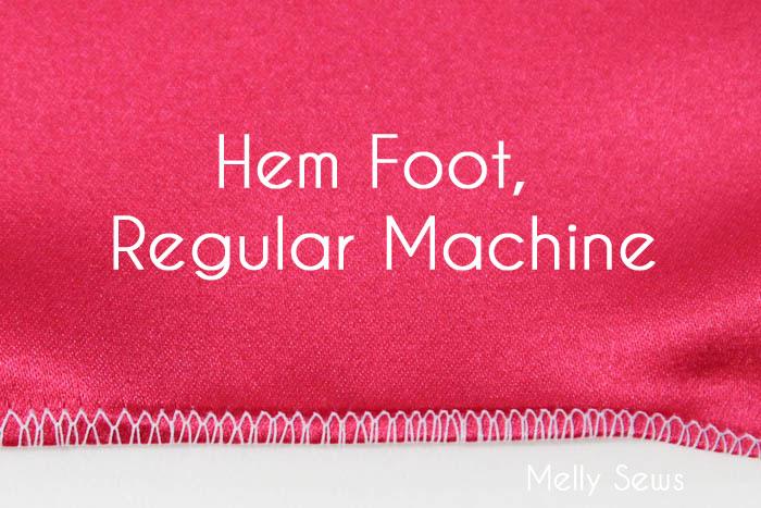Rolled Hem with a Hem foot