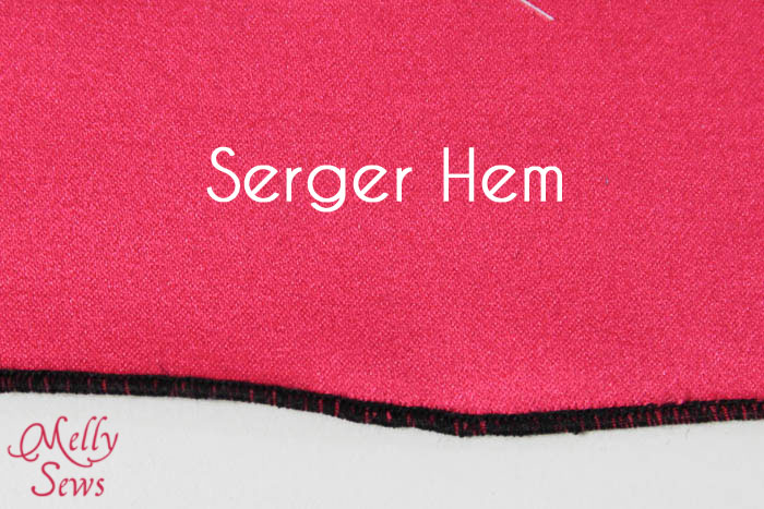 Rolled Hem with a Serger
