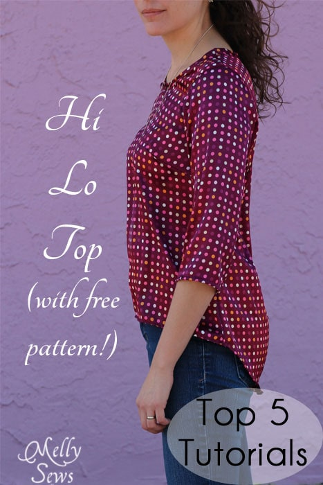 Hi Low shirt tutorial with free pattern - Melly Sews #sewing #womensfashion #diy