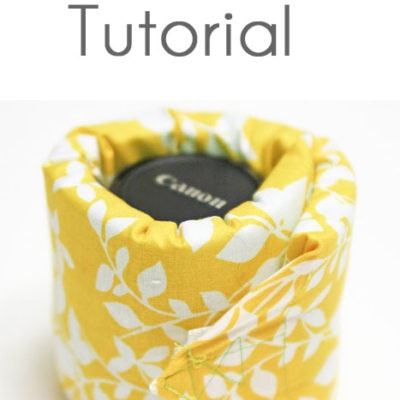 Flashback tutorial – Sew a Camera Lens Pad