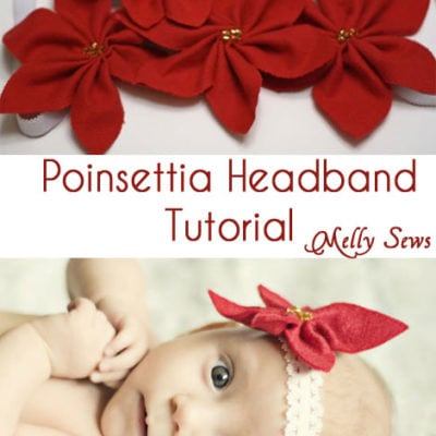 Poinsettia Headbands