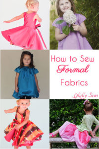 How to Sew Formal Dress Fabrics - Satin, Taffeta, Silk - Melly Sews #sewing