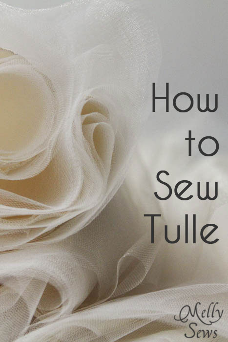 How to sew tulle melly sews