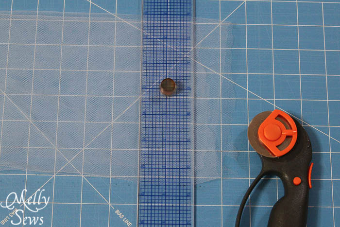 Use a rotary cutter to cut tulle - Melly Sews