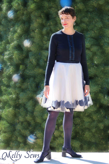 Goregous - Applqued Tulle Skirt Tutorial - Melly Sews #diy #sewing #fashion