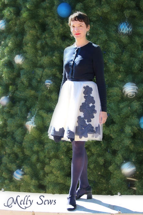 Romantic and flirty - Applqued Tulle Skirt Tutorial - Melly Sews #diy #sewing #fashion