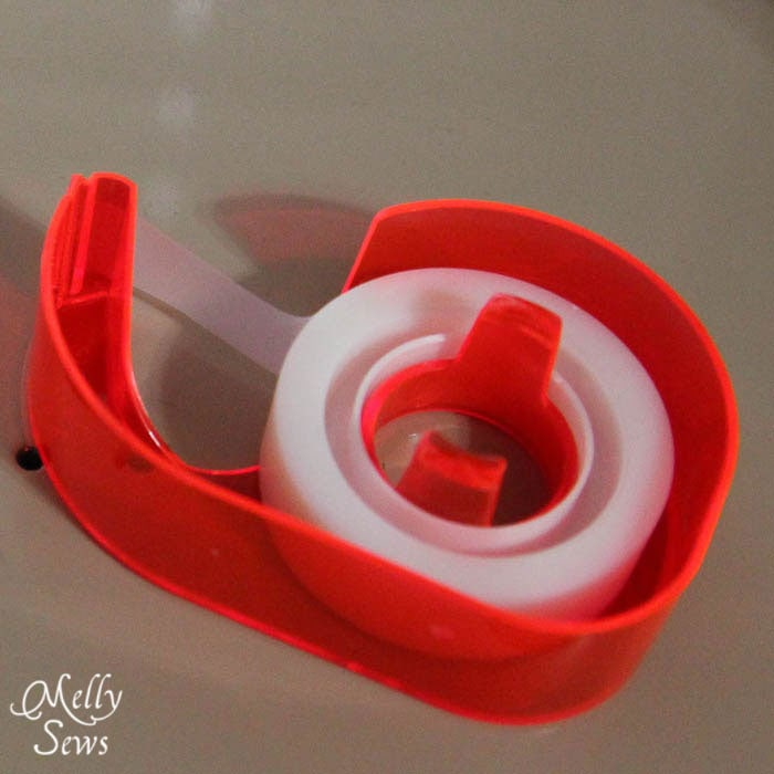Transparent tape - a versatile sewing tool - Melly Sews