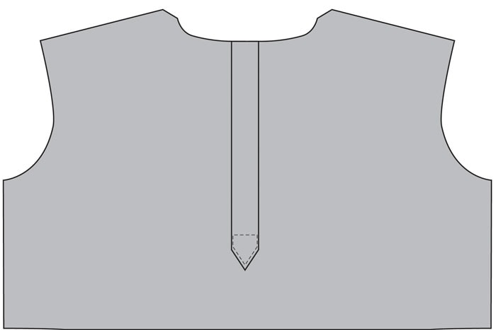 Step 7 - How to make a continuous placket - Melly Sews continuous placket tutorial #sewing