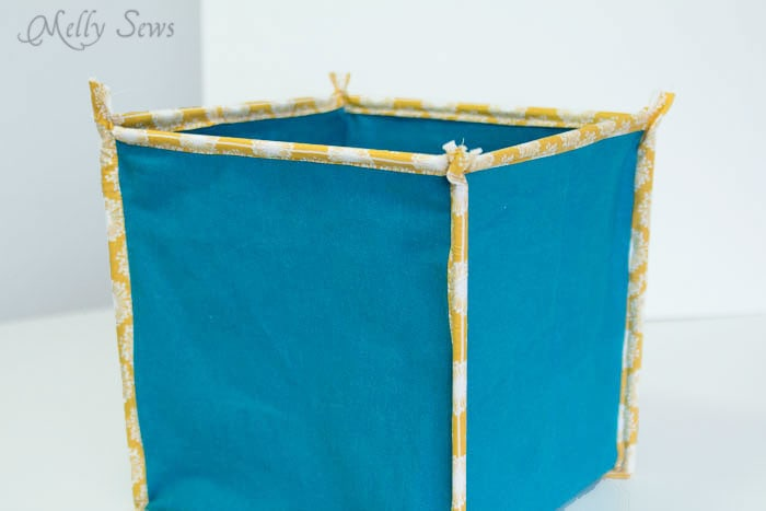 Step 5-4 How to Sew Collapsible Fabric Storage Boxes - MellySews.com