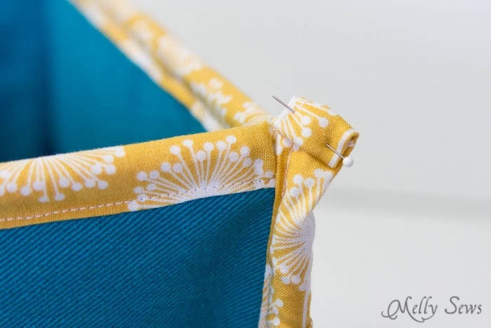 Step 7 - How to Sew Collapsible Fabric Storage Boxes - MellySews.com