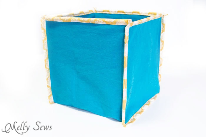 Finished Fabric Box - How to Sew Collapsible Fabric Storage Boxes - MellySews.com