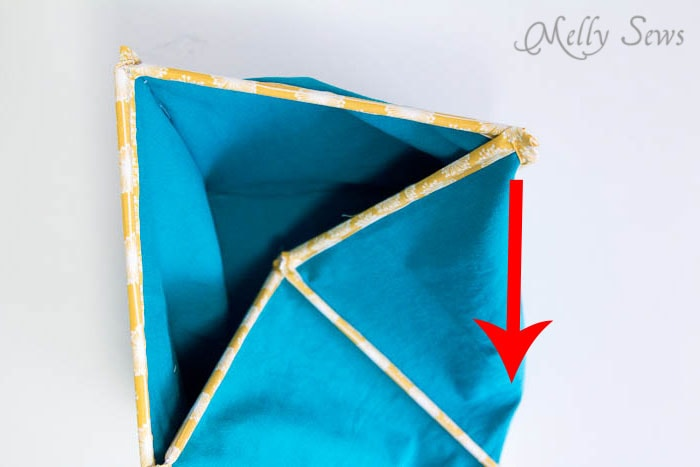 How to Fold Step 2 - How to Sew Collapsible Fabric Storage Boxes - MellySews.com