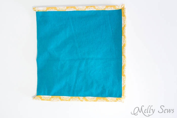 Flat folded - How to Sew Collapsible Fabric Storage Boxes - MellySews.com