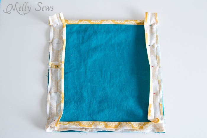 Step 3 - How to Sew Collapsible Fabric Storage Boxes - MellySews.com