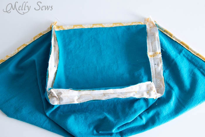Step 4 - How to Sew Collapsible Fabric Storage Boxes - MellySews.com