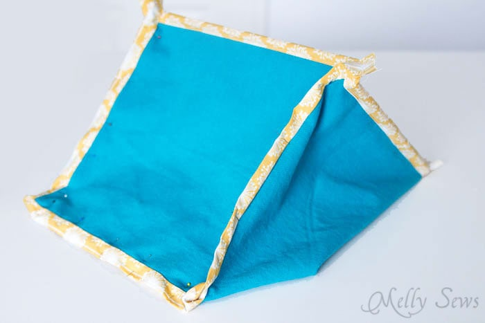 Step 5 - How to Sew Collapsible Fabric Storage Boxes - MellySews.com