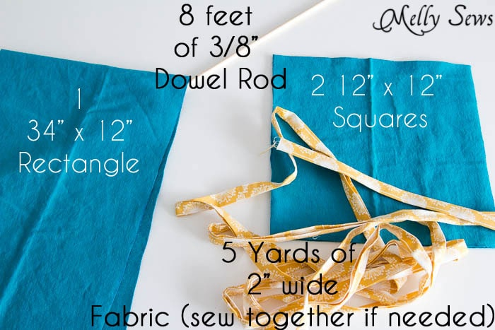 Materials - How to Sew Collapsible Fabric Storage Boxes - MellySews.com