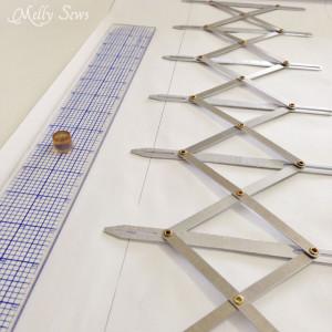 Simflex Gauge- Sewing Tool for Measuring buttonholes