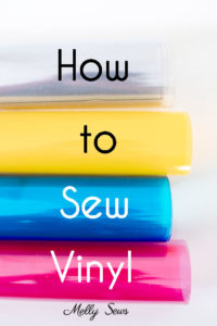 How to sew vinyl - tips for sewing clear vinyl fabric - Melly Sews