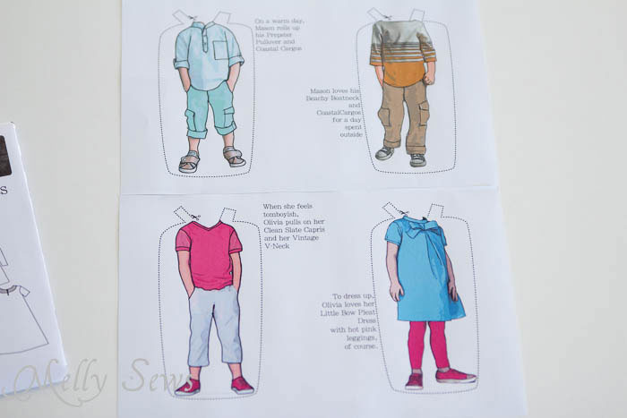 Blank Slate Patterns Paper Doll Clothing - MellySews.com