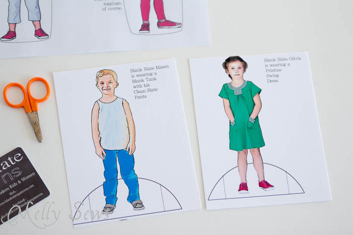 Paper Dolls for Blank Slate Patterns - MellySews.com