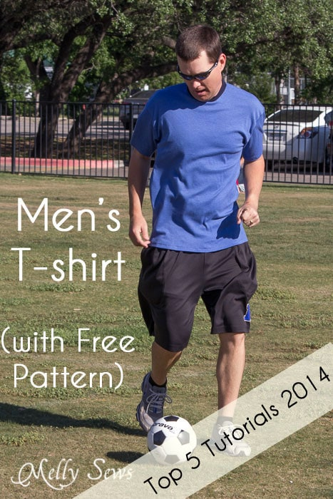 Sew a men's t-shirt with this free pattern and tutorial - a Top 5 Tutorial for 2014 - Melly Sews