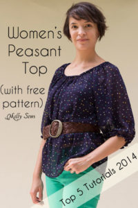 Sew a peasant top with this free pattern and tutorial! Bonus - styling and fabric selection tips - Melly Sews