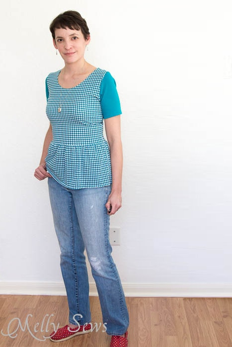 Casual style - Penelope Peplum pattern by see kate sew - sewn by Melly Sews