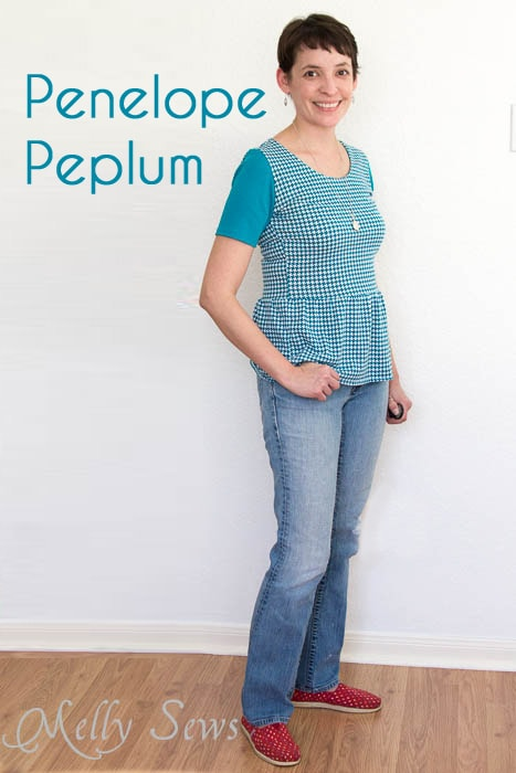 Penelope Peplum pattern by see kate sew - sewn by Melly Sews