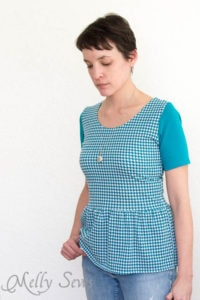 Colorblocked - Penelope Peplum pattern by see kate sew - sewn by Melly Sews