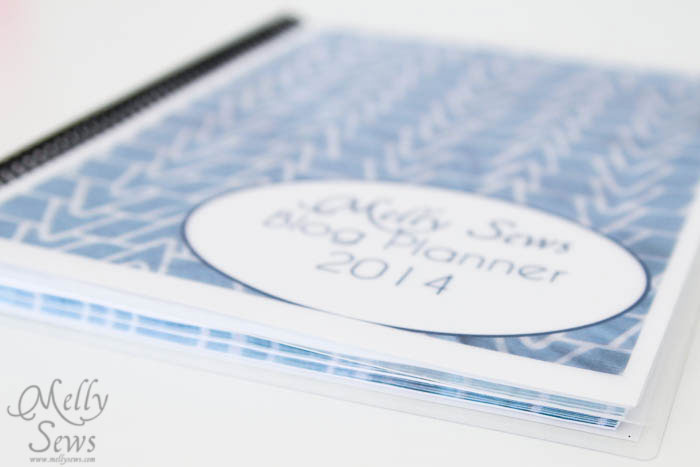 How to make a custom blog planner for the year - Melly Sews