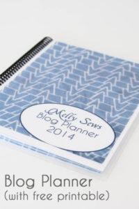 Free Printable Blog Planner - Melly Sews #blogging