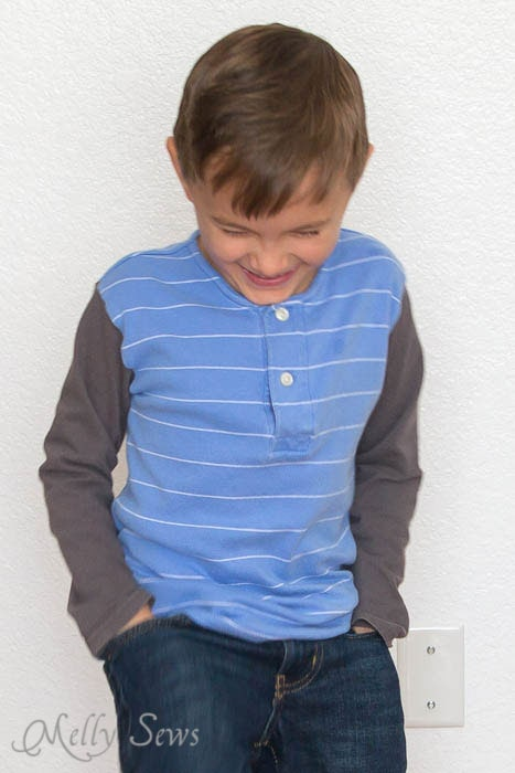 Cute polo shirt upcycle - doesn't look too hard - Melly Sews