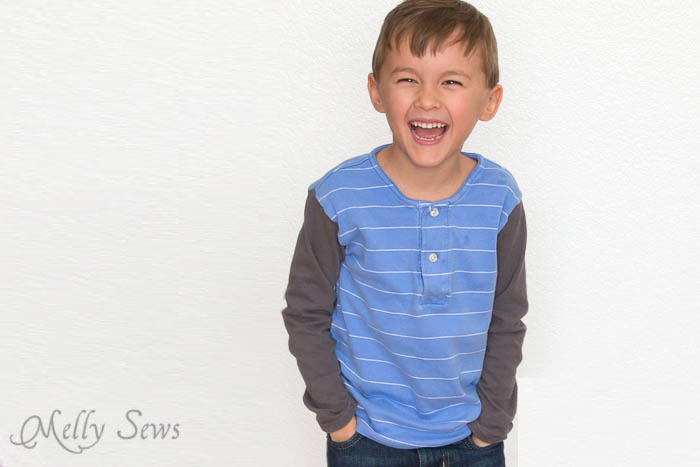 Polo Shirt upcycle - Melly Sews