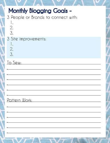 Printable Blog Planner - Melly Sews