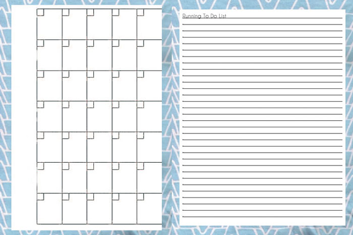 Calendar and To-Do List - Printable Blog Planner - Melly Sews
