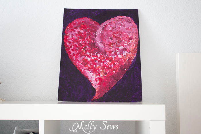Heart painting - Sewing Room - Melly Sews Sewing Studio