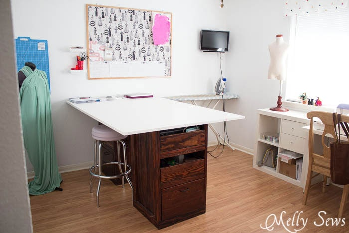 Cutting table - Sewing Room - Melly Sews Sewing Studio