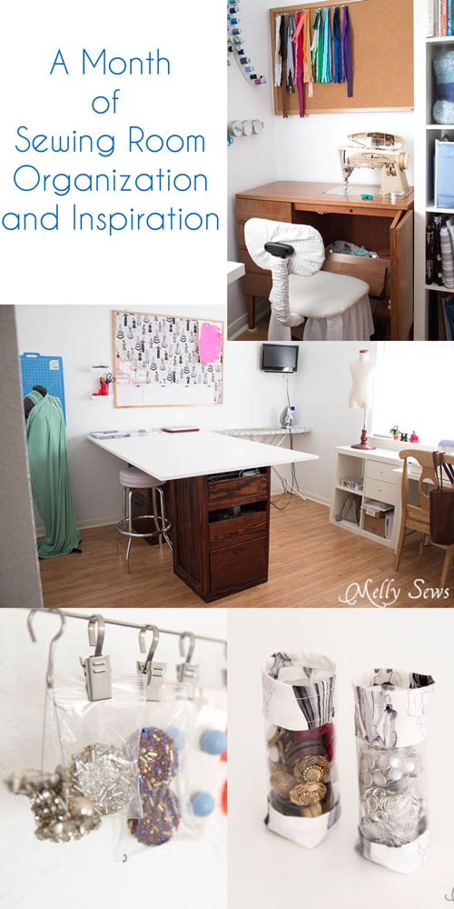 January - Sewing Room Inspiration and Organization Projects on MellySews.com