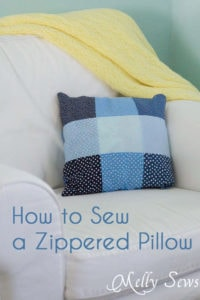 How to Sew a Pillow with a Zipper - MellySews.com