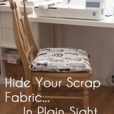 How to Store Scrap Fabric In Plain Sight