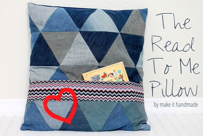 Read to Me Pillow - Make it Handmade for Sew in Tune - MellySews.com