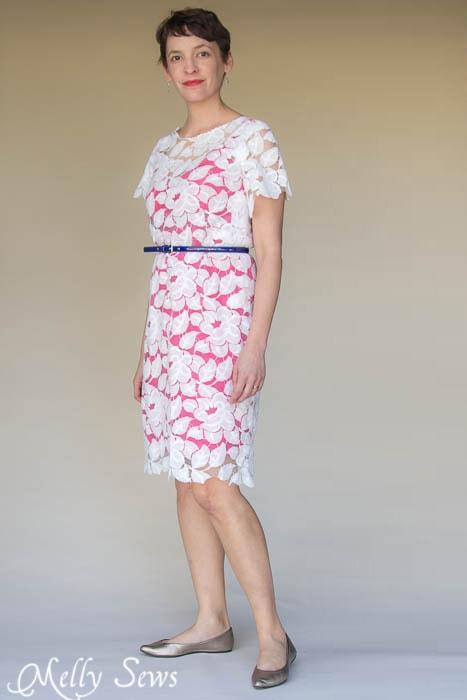 Shoreline Boatneck Dress Sewing Pattern by Blank Slate Patterns