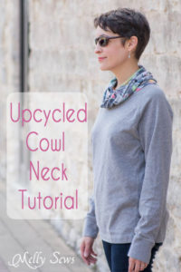 Cowl Neck Tutorial - Easy and Cute Upcycle - MellySews.com