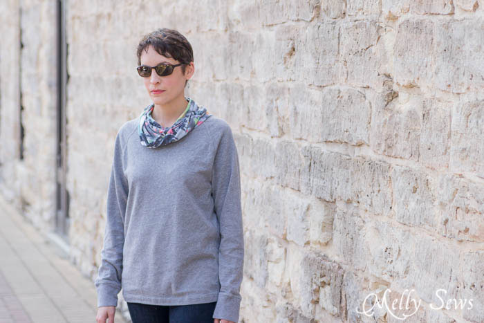 Easy to sew refashion - Cowl Neck Tutorial - MellySews.com