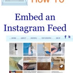 How to Embed an Instagram Feed - MellySews.com Tech Tips for Blogging