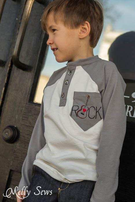 Boy Fashion - Raglan T-shirt - MellySews.com