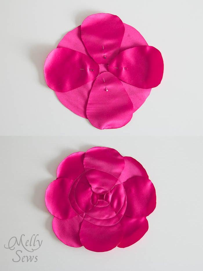 Step 2 - make a flower purse - MellySews.com