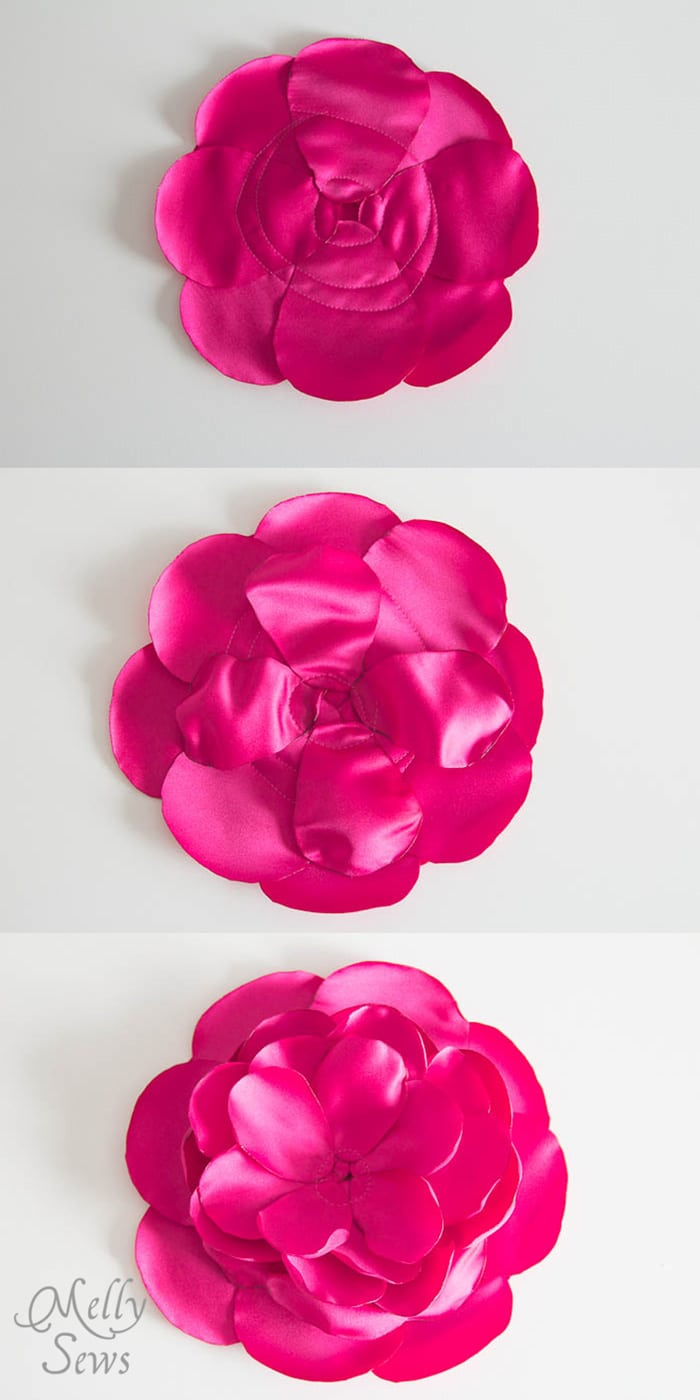 Step 3 - make a rose clutch - MellySews.com