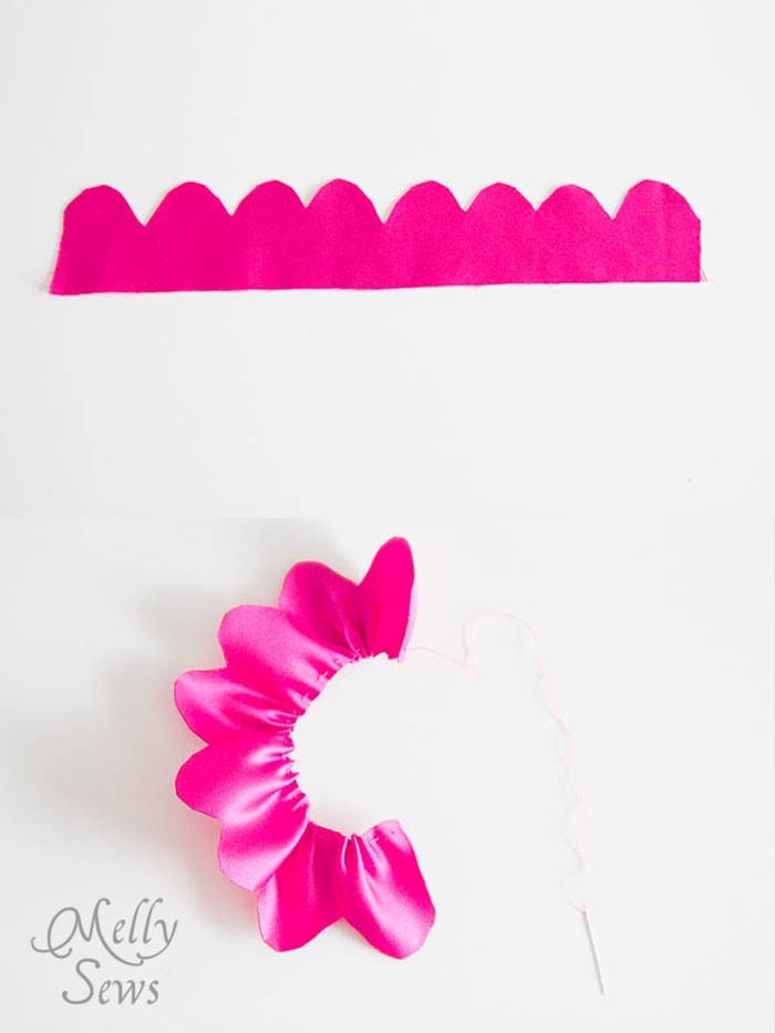 Step 4 make a fabric flower bag - MellySews.com